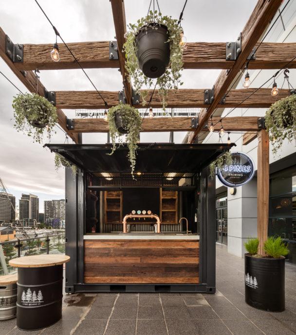 4 Pines Beer Bar Marvel Stadium | Commercial construction builders